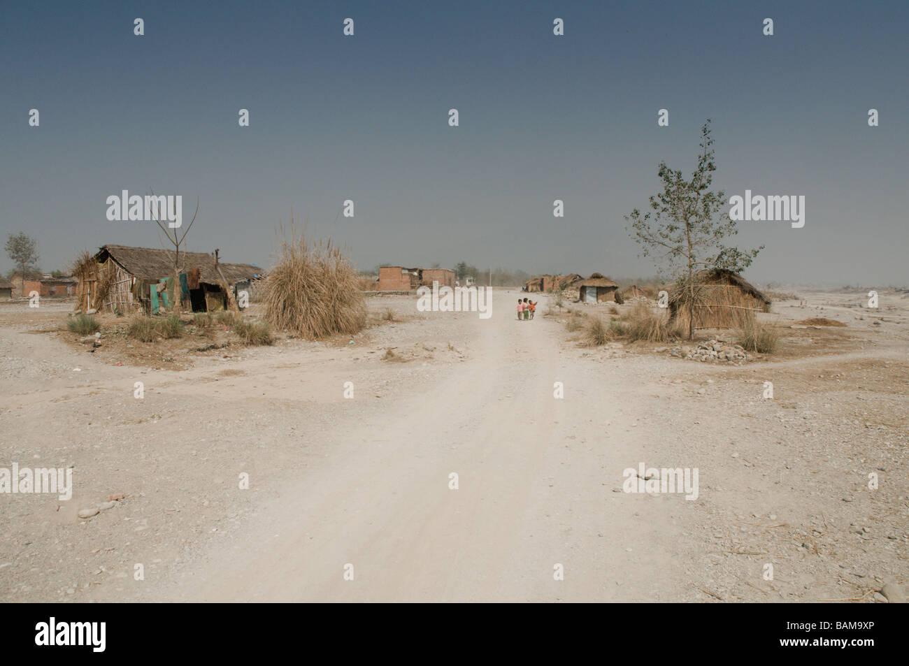 slum/village life - Stock Image