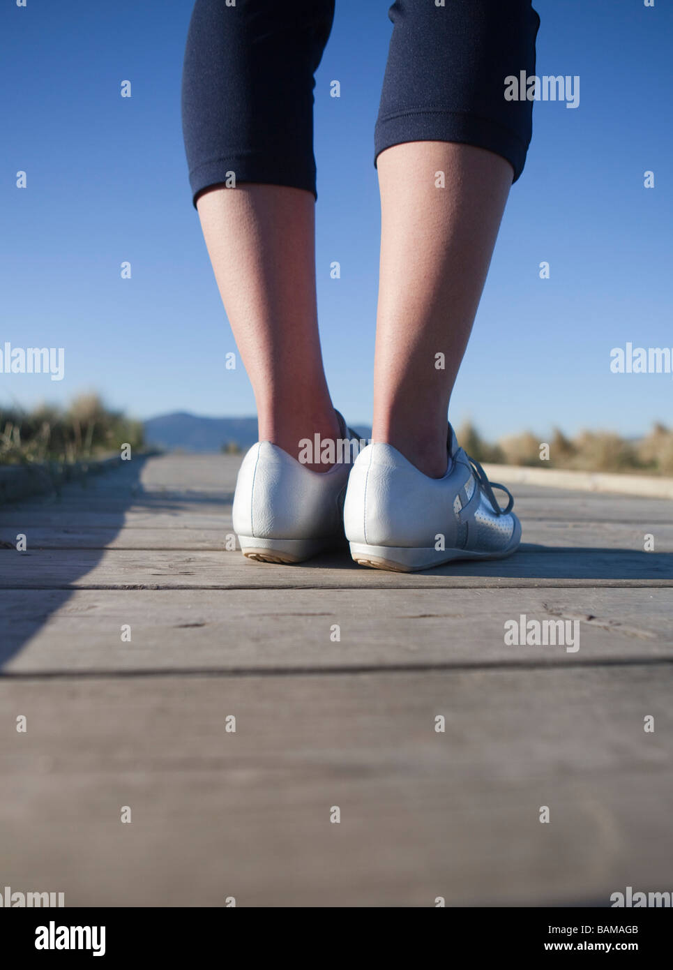 Feet on the ground - Stock Image