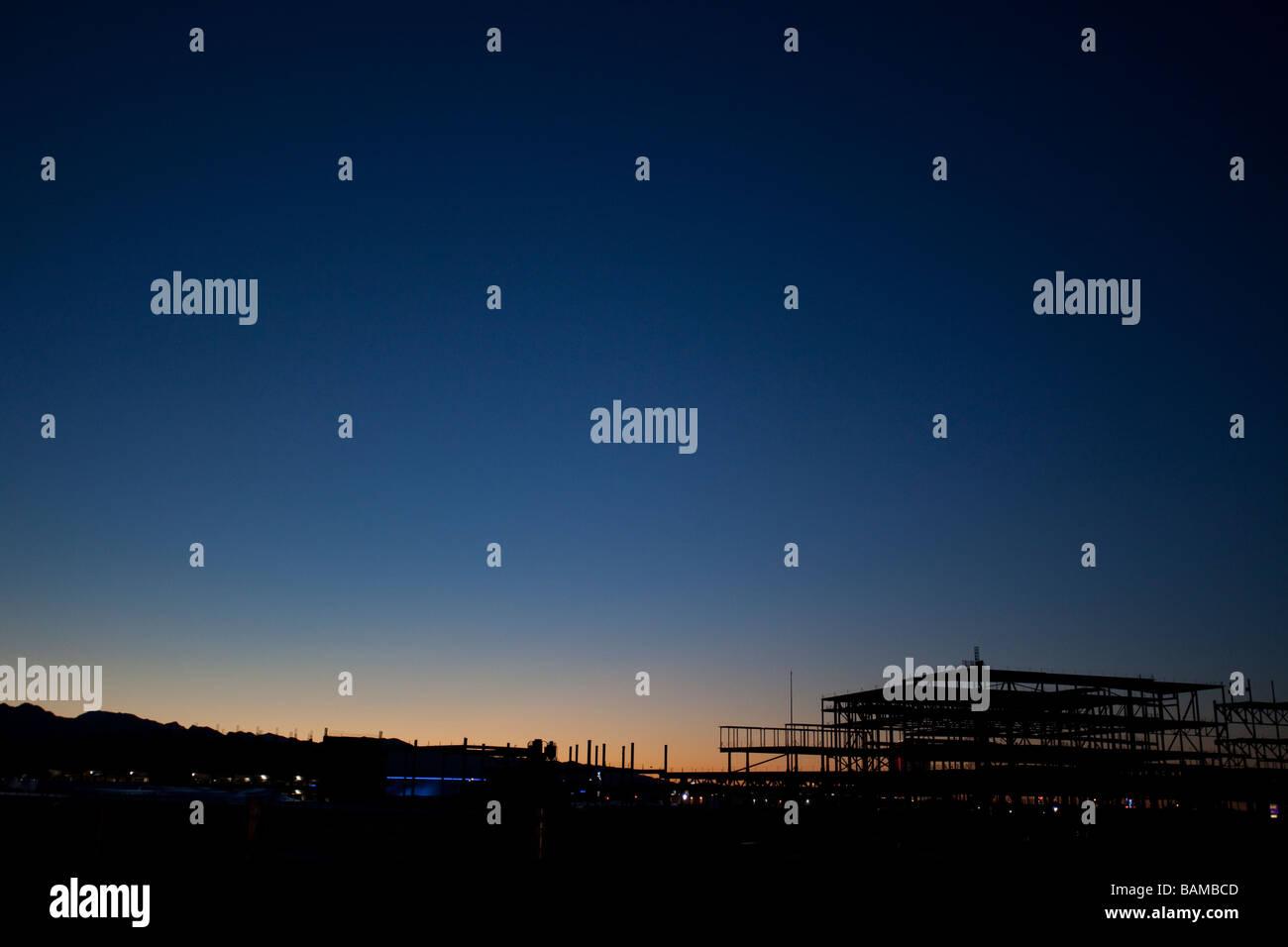 Twilight and blue hour, Las Vegas, Nevada, USA. - Stock Image