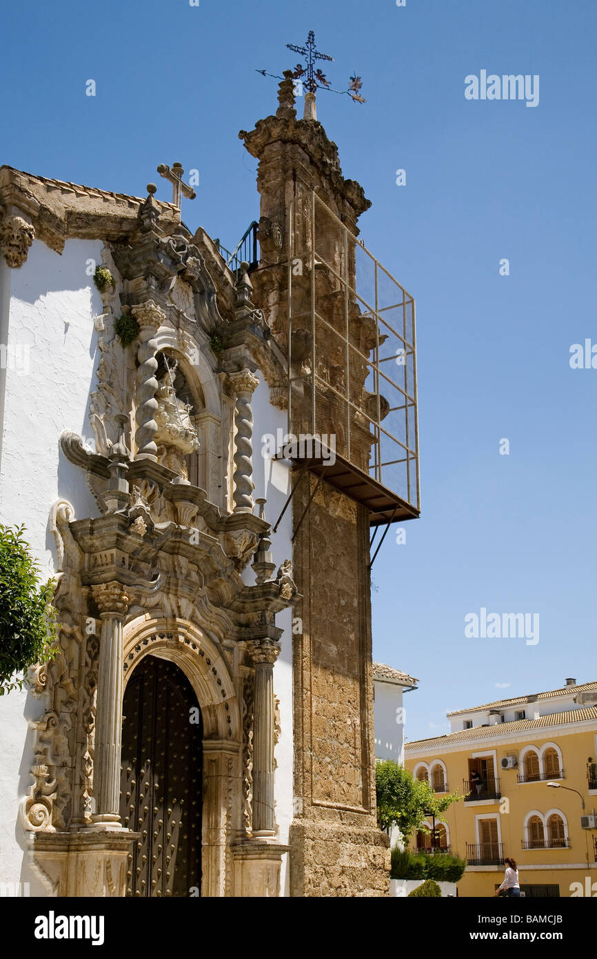 Aurora Church Baroque Style Priego Cordova Andalusia Spain - Stock Image