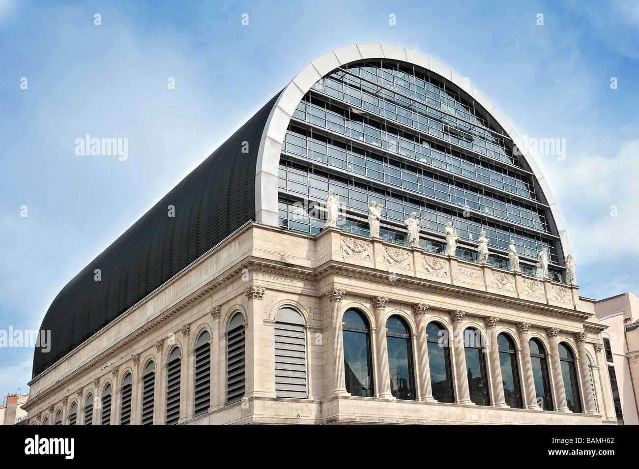 The opera house at Lyon, France. - Stock Image