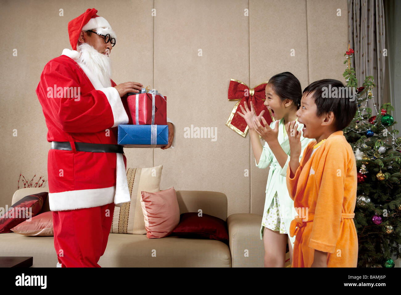 0846ea3e4086c Gift Delighted Happy Giving Surprise Stock Photos   Gift Delighted ...