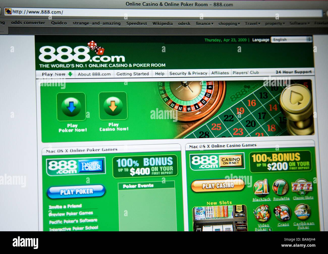888 gambling website - Stock Image