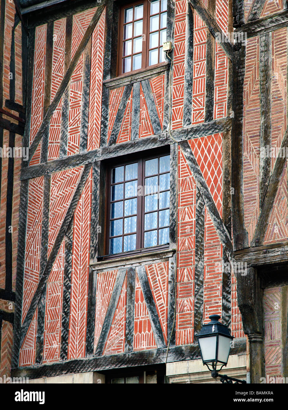 Typical frontage at Tours, France. - Stock Image