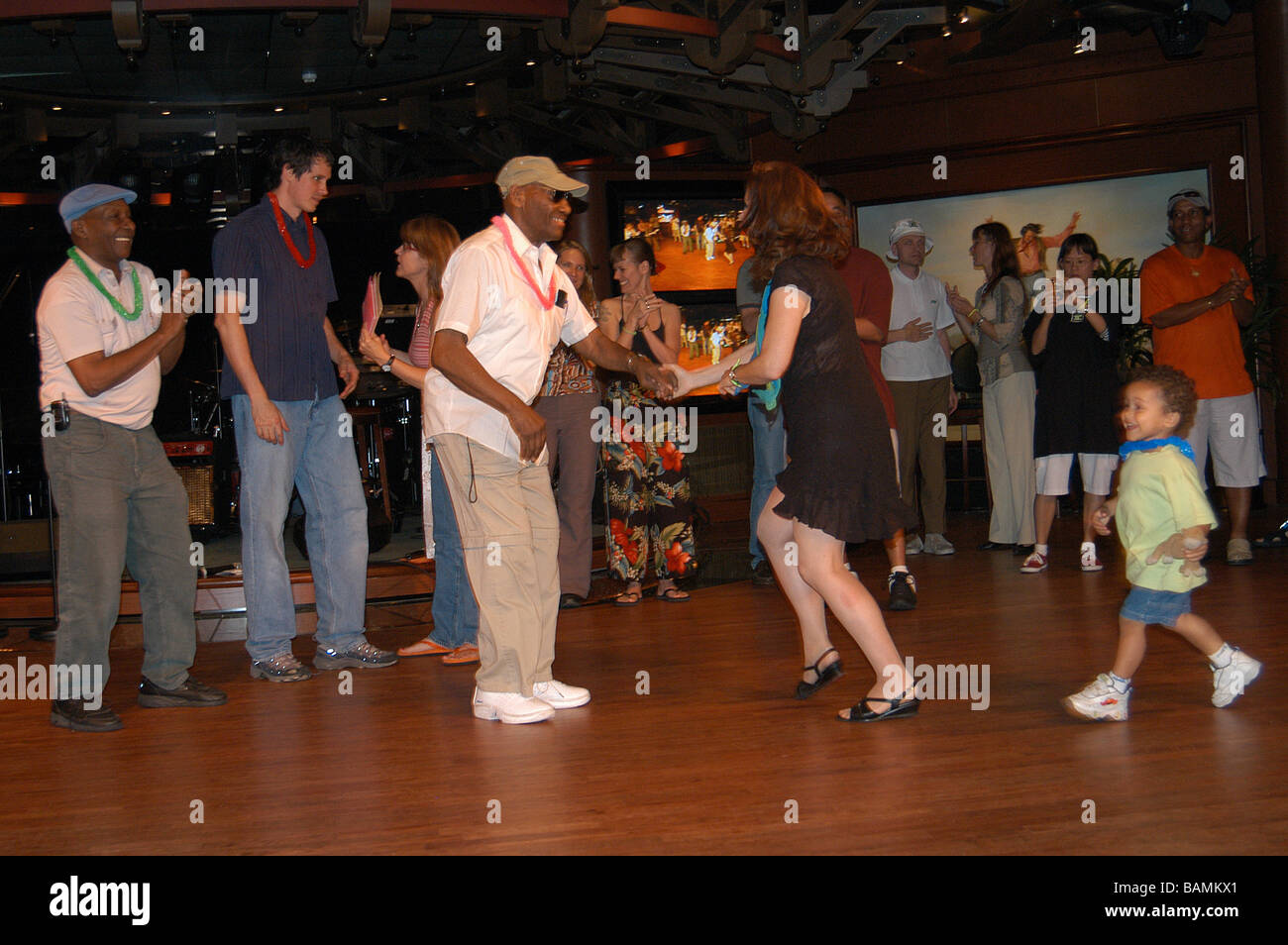 Frankie Manning dancing Lindy Hop cruising around the Caribbean May 2004.   (26 May 1914 - 27 April 2009) - Stock Image