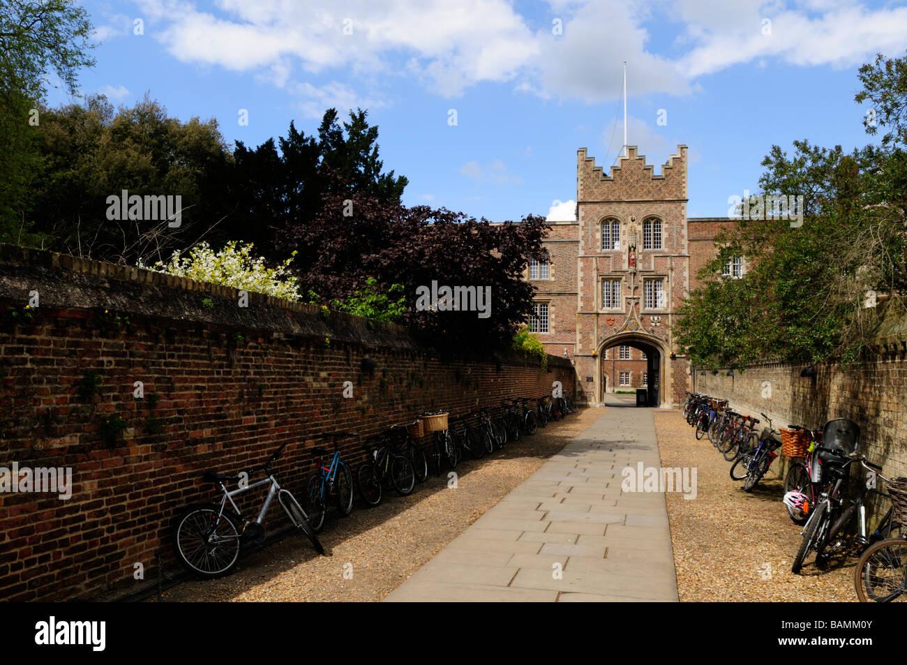 Jesus College, Cambridge, England, Uk - Stock Image