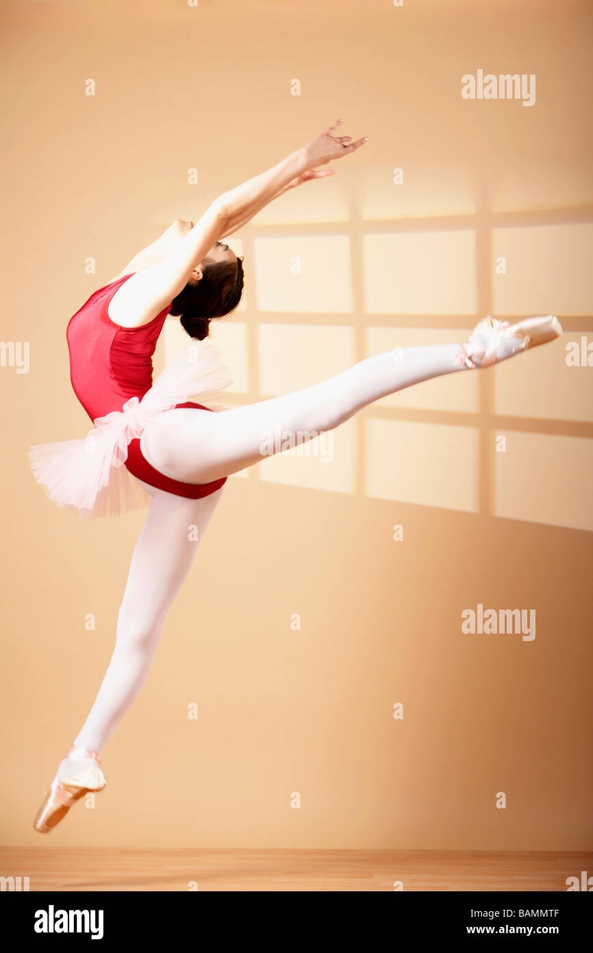 Woman Ballet Dancing - Stock Image