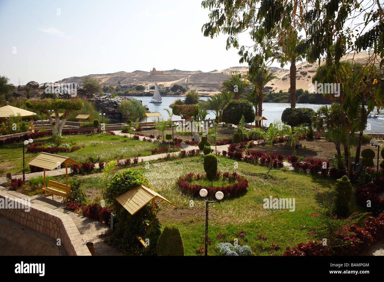 Aswan Botanical Gardens, Kitchener Island, River Nile, Aswan, Egypt ...