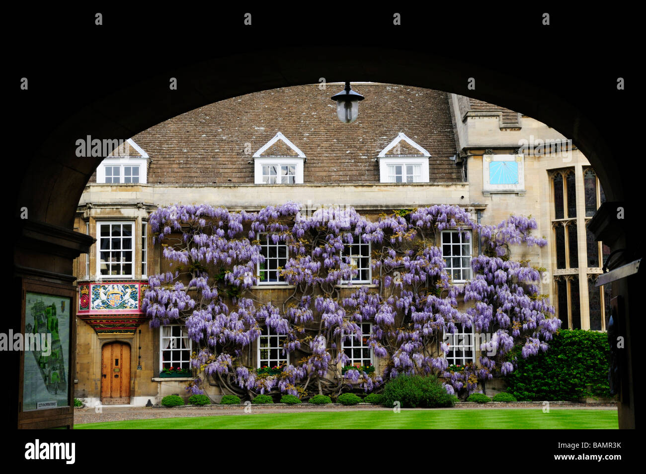 Christs College ,Cambridge, England ,Uk - Stock Image