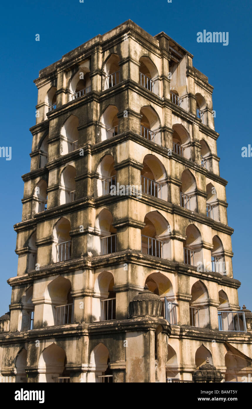Royal Palace Watch tower Thanjavur Tamil Nadu India Stock Photo