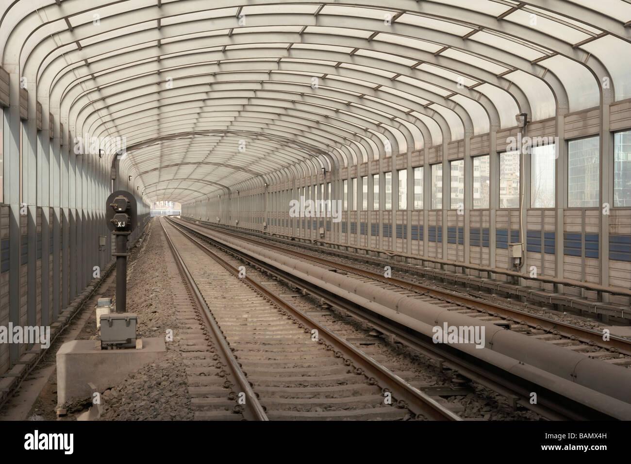 Glass Railway Station - Stock Image