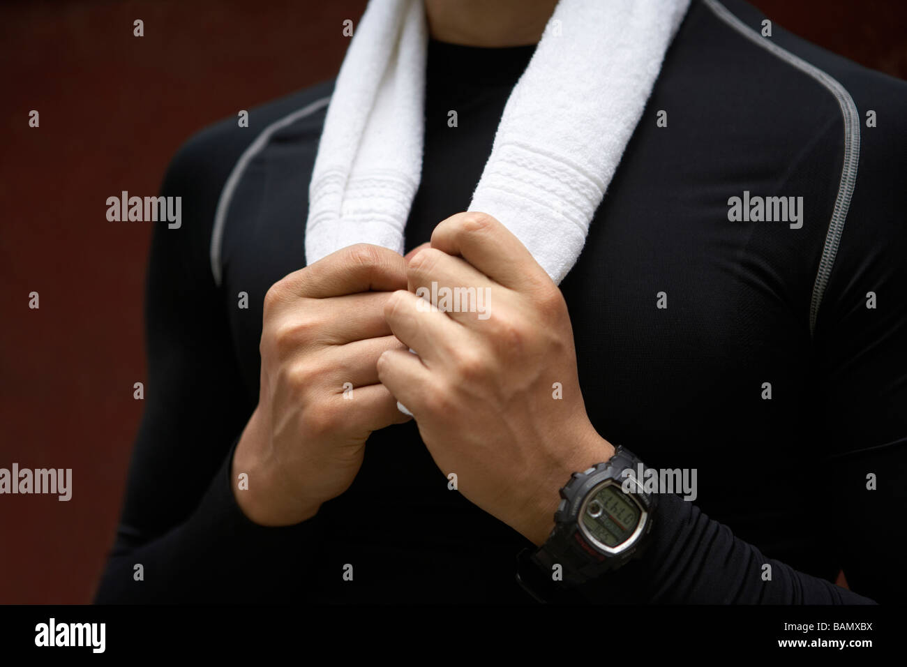 Close Up Of Athlete - Stock Image