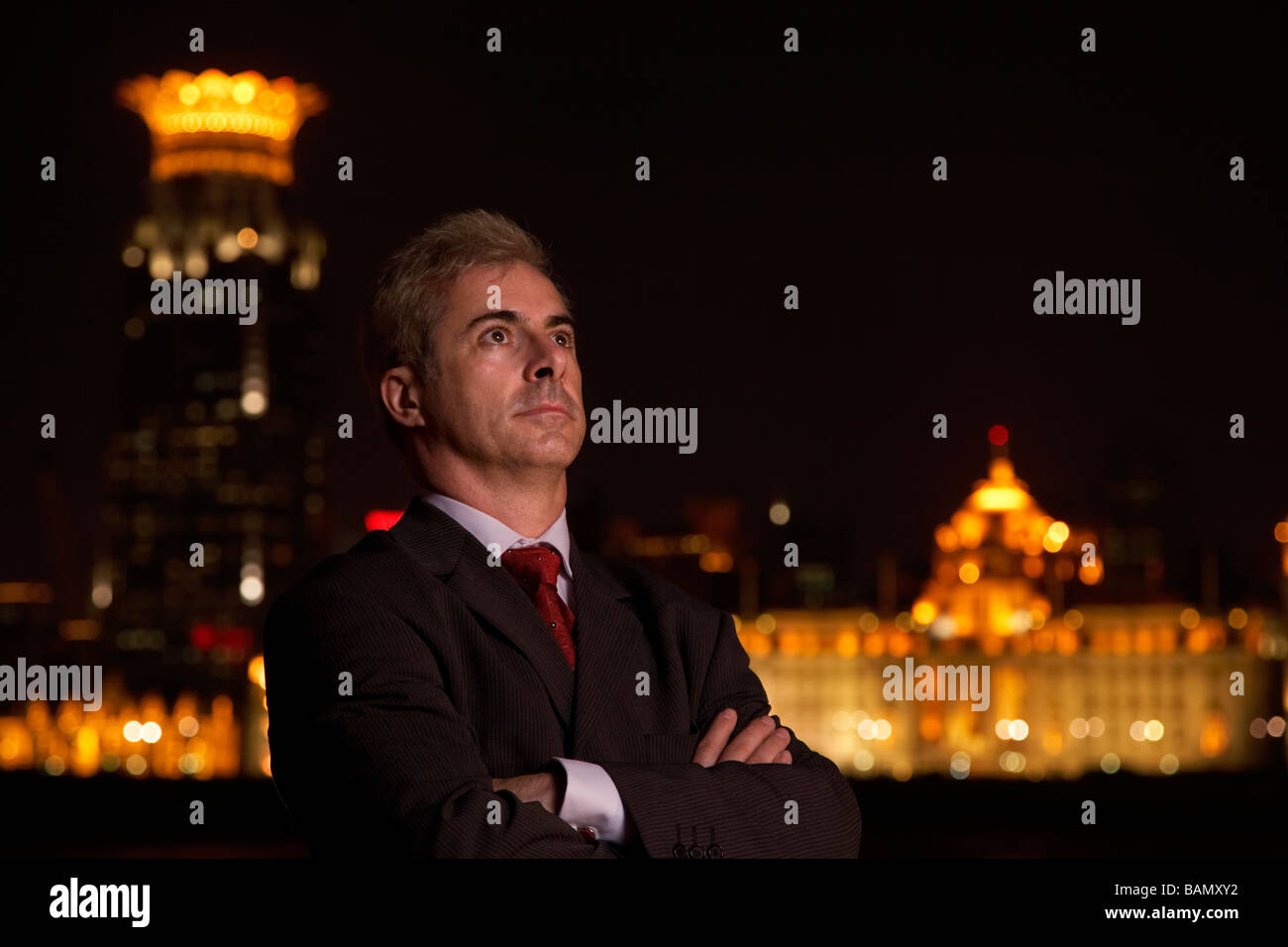 An international business person in Shanghai - Stock Image