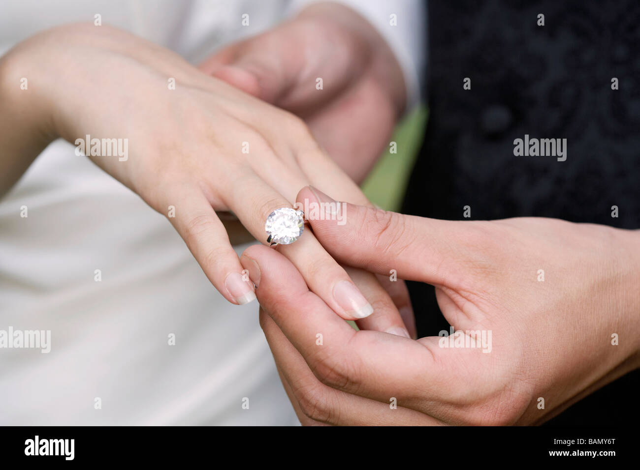 Marriage Hands Wedding Ring Mixed Stock Photos & Marriage Hands ...