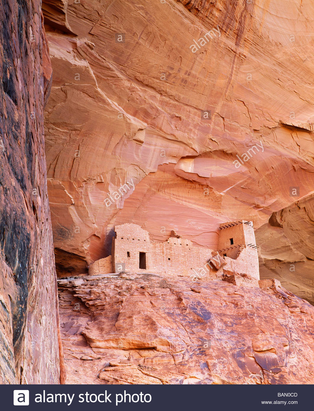 'Tower Ruin' at 'Mummy Cave' 'Canyon del Muerto' Anasazi culture site [Canyon de Chelly - Stock Image