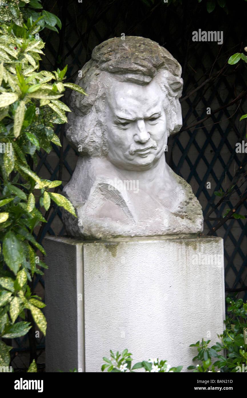 A Bust Honore De Balzac Or Honore Balzac In The Garden Of