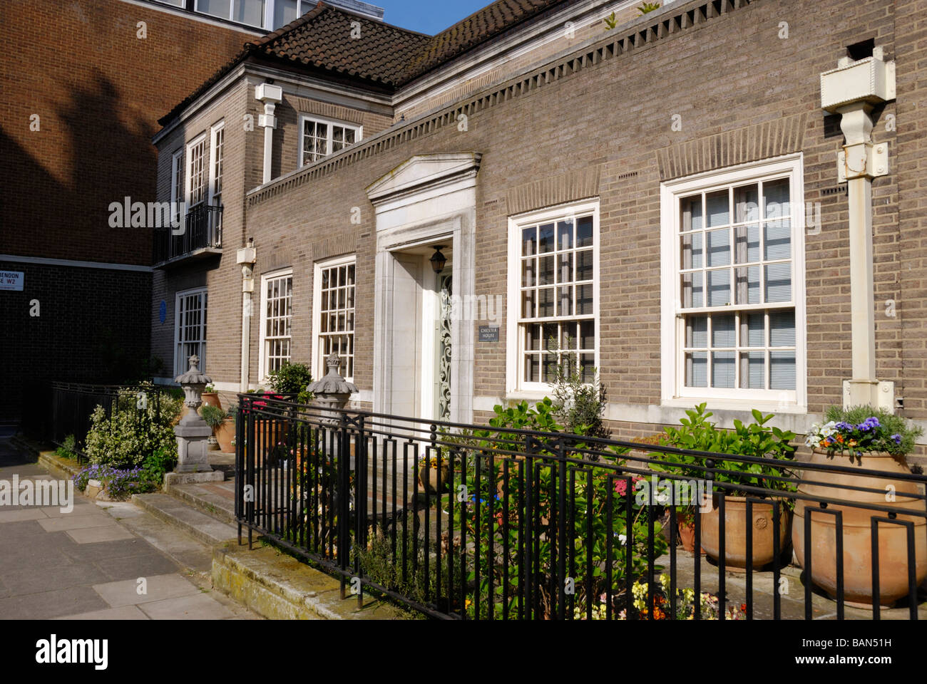 Chester House the former home of architect Sir Giles Gilbert Scott Clarendon Place Bayswater London W2 - Stock Image