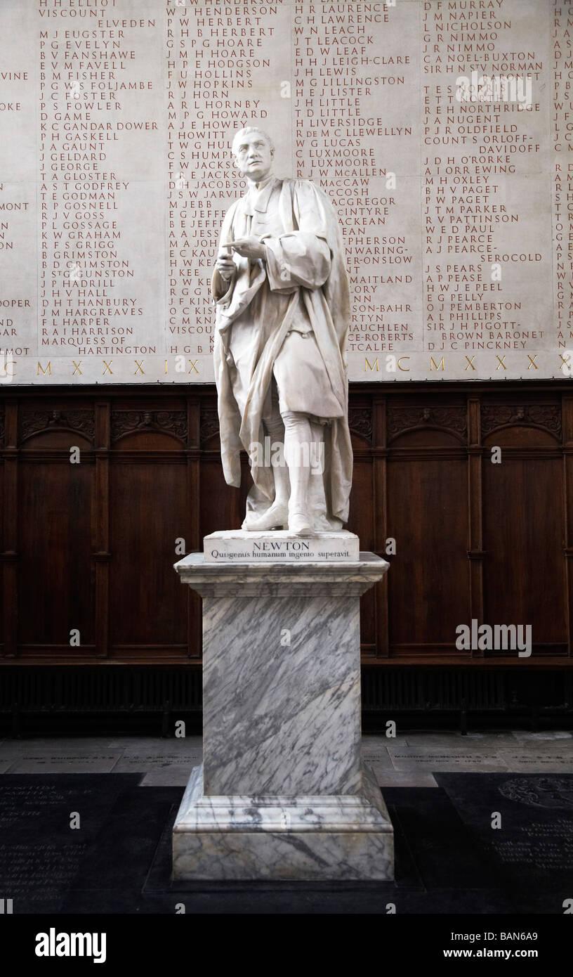 Sir Isaac Newton statue, Cambridge University - Stock Image