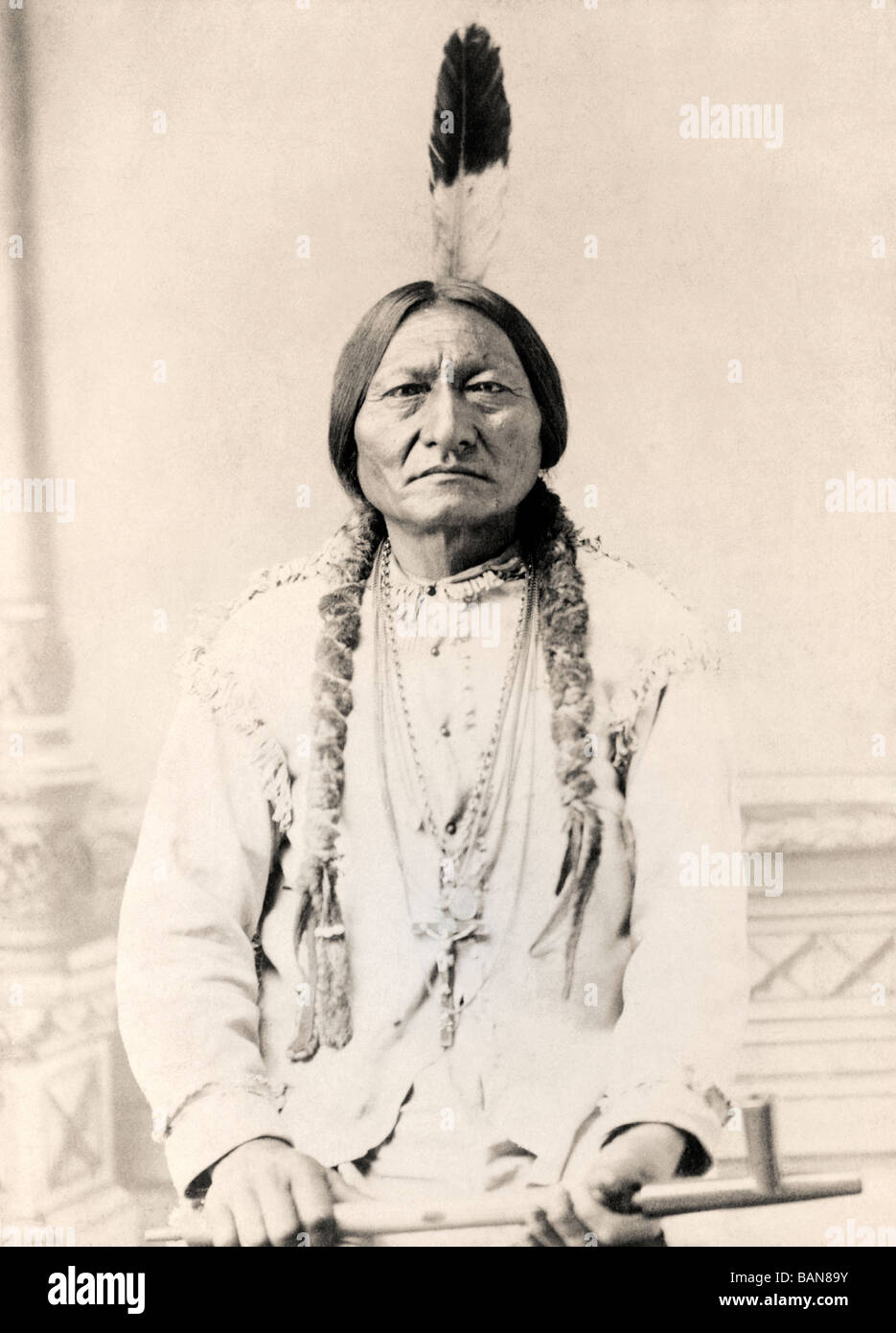 Sitting Bull, c.1831-1890.  Hunkpapa Lakota Sioux holy man. - Stock Image