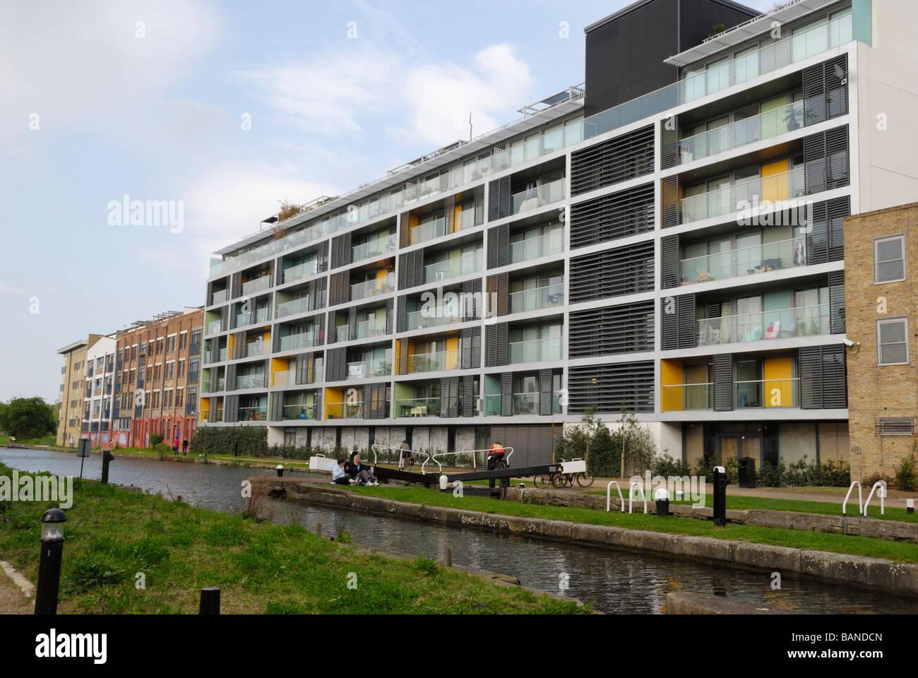 New residential apartment development next to Johnson's Lock on