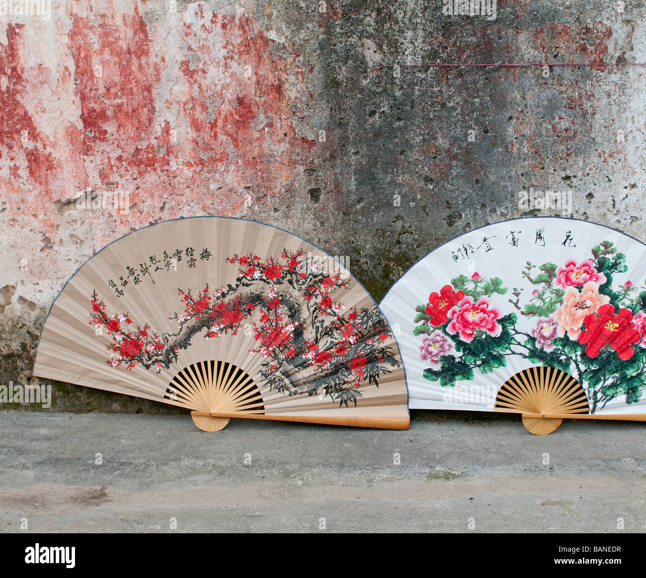 traditional chinese fans - Stock Image