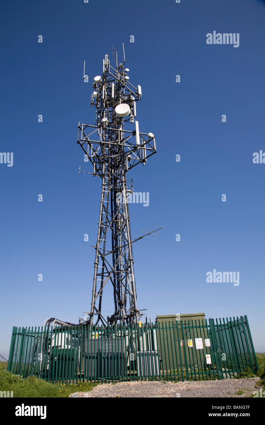 Telecommunications mast - Stock Image