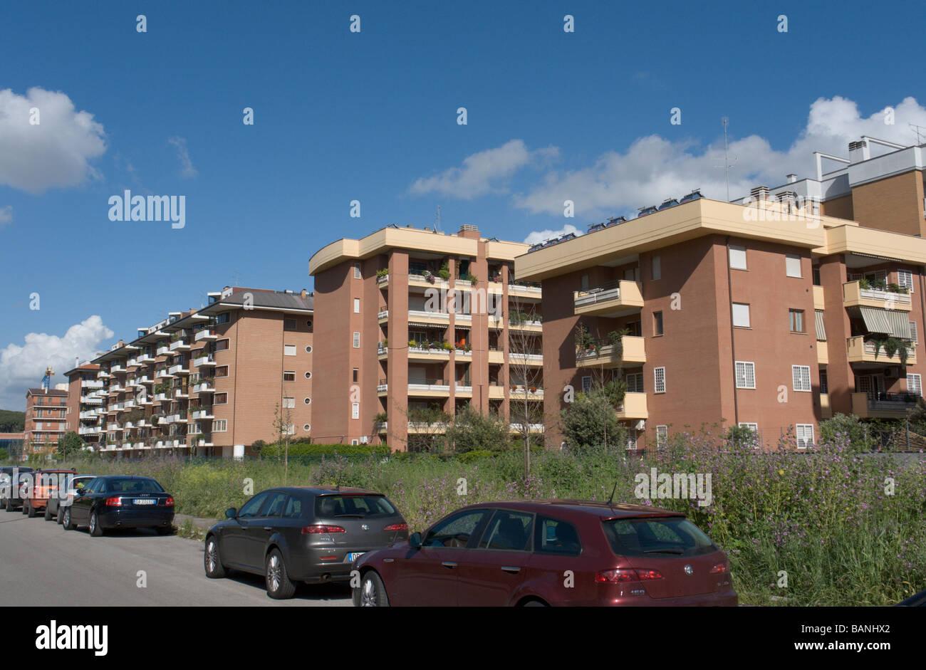 Rome, Italy. Modern apartment buildings in via Avignone in ...