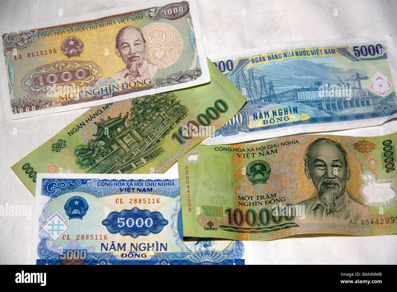 Vietnam Dong Money Stock Photos & Vietnam Dong Money Stock