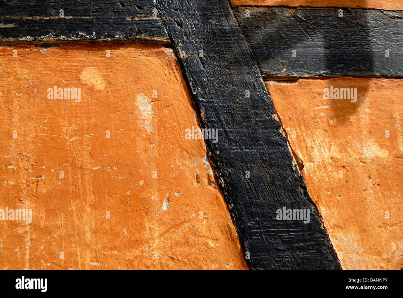 HALF-TIMBERED FACADE - Stock Image