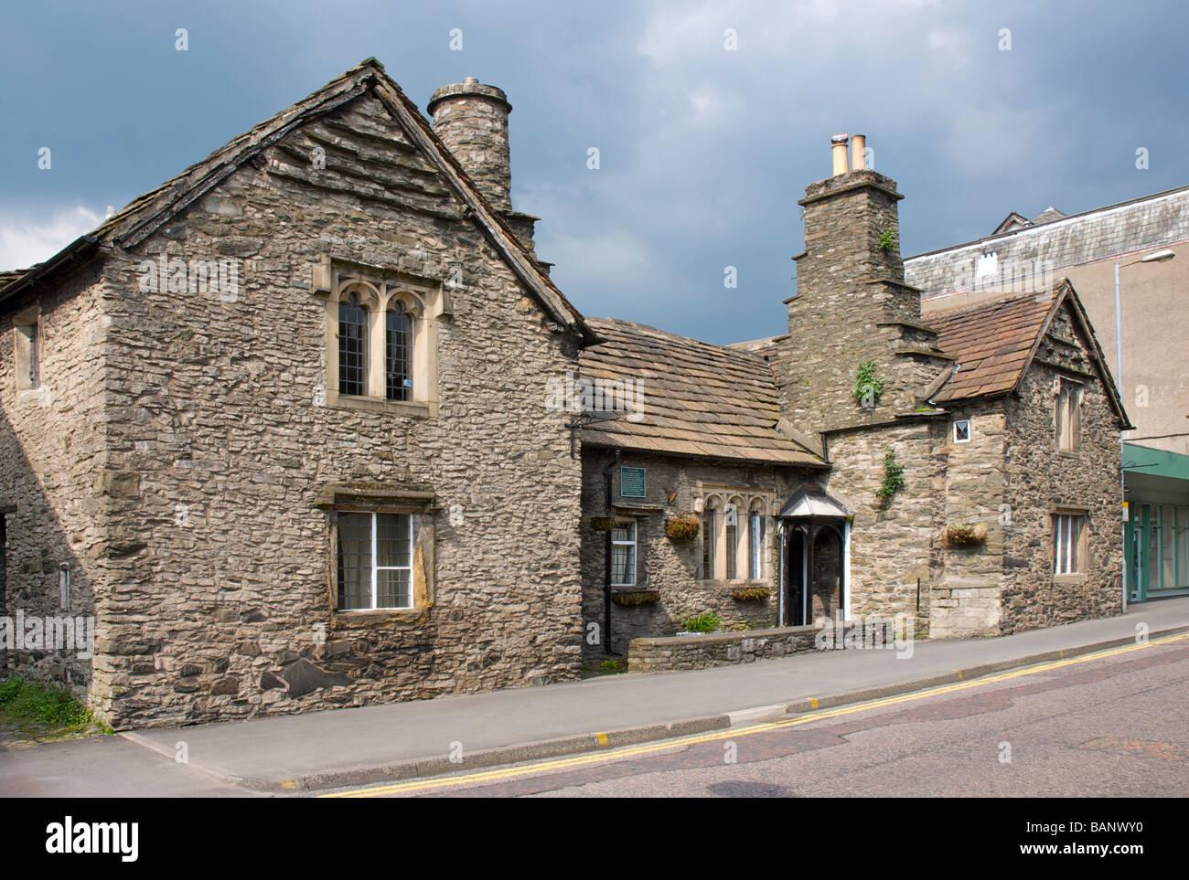 15th century Castle Dairy on Wildman Street, Kendal, Cumbria, England UK Stock Photo