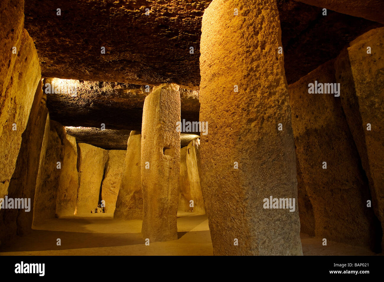 Megalithic Dolmens of Menga in Antequera Málaga Andalusia Spain - Stock Image
