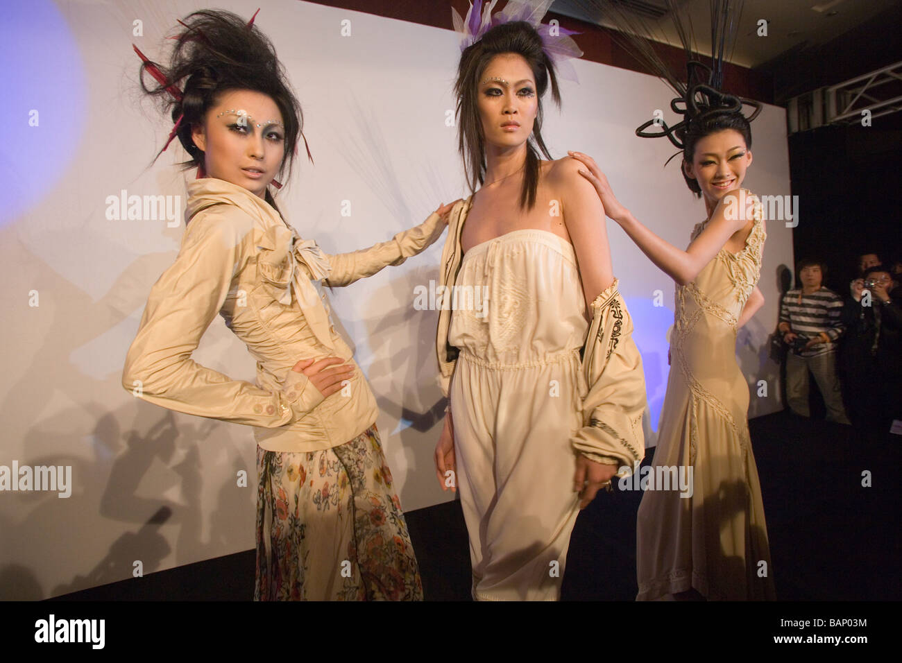 Eric Paris Hair And Fashion Show Beijing University Students Hired Stock Photo Alamy