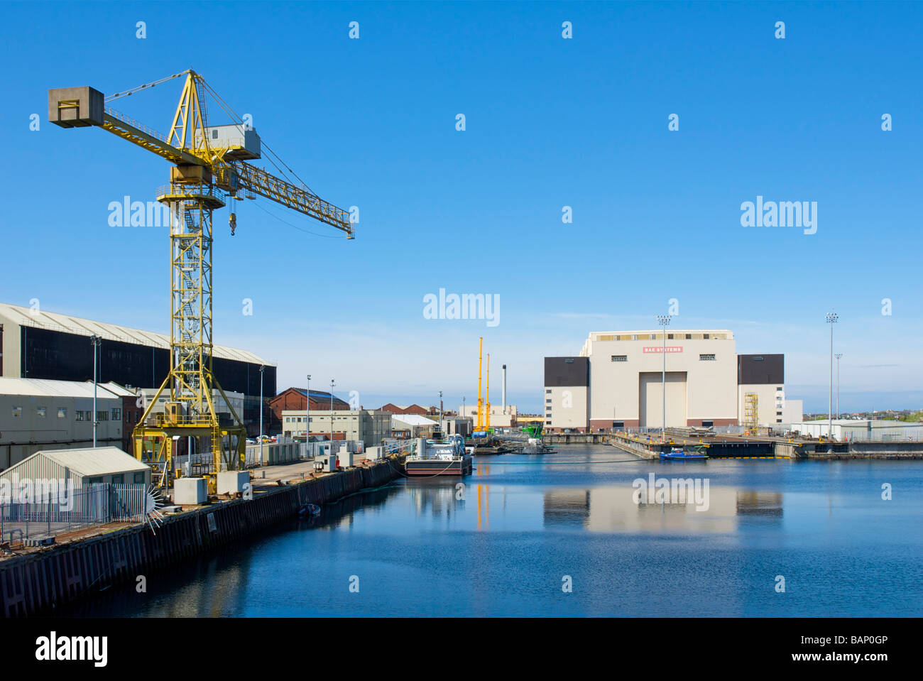 BAE Systems and Devonshire Dock, Barrow-in-Furness, Cumbria, England UK - Stock Image