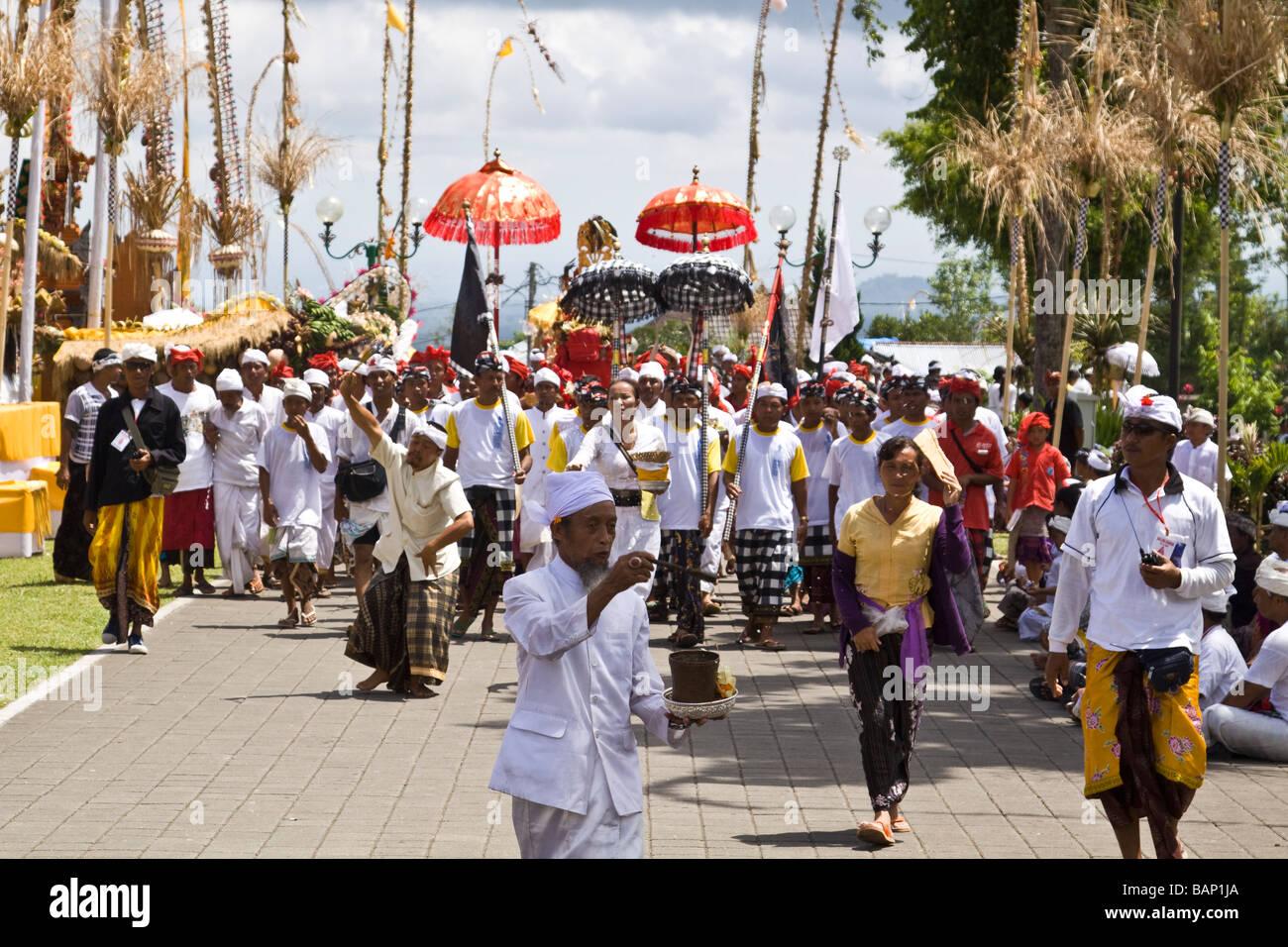 Panca Wali Krama holy Celebration at Besakih temple every ten years Bali Indonesia Stock Photo
