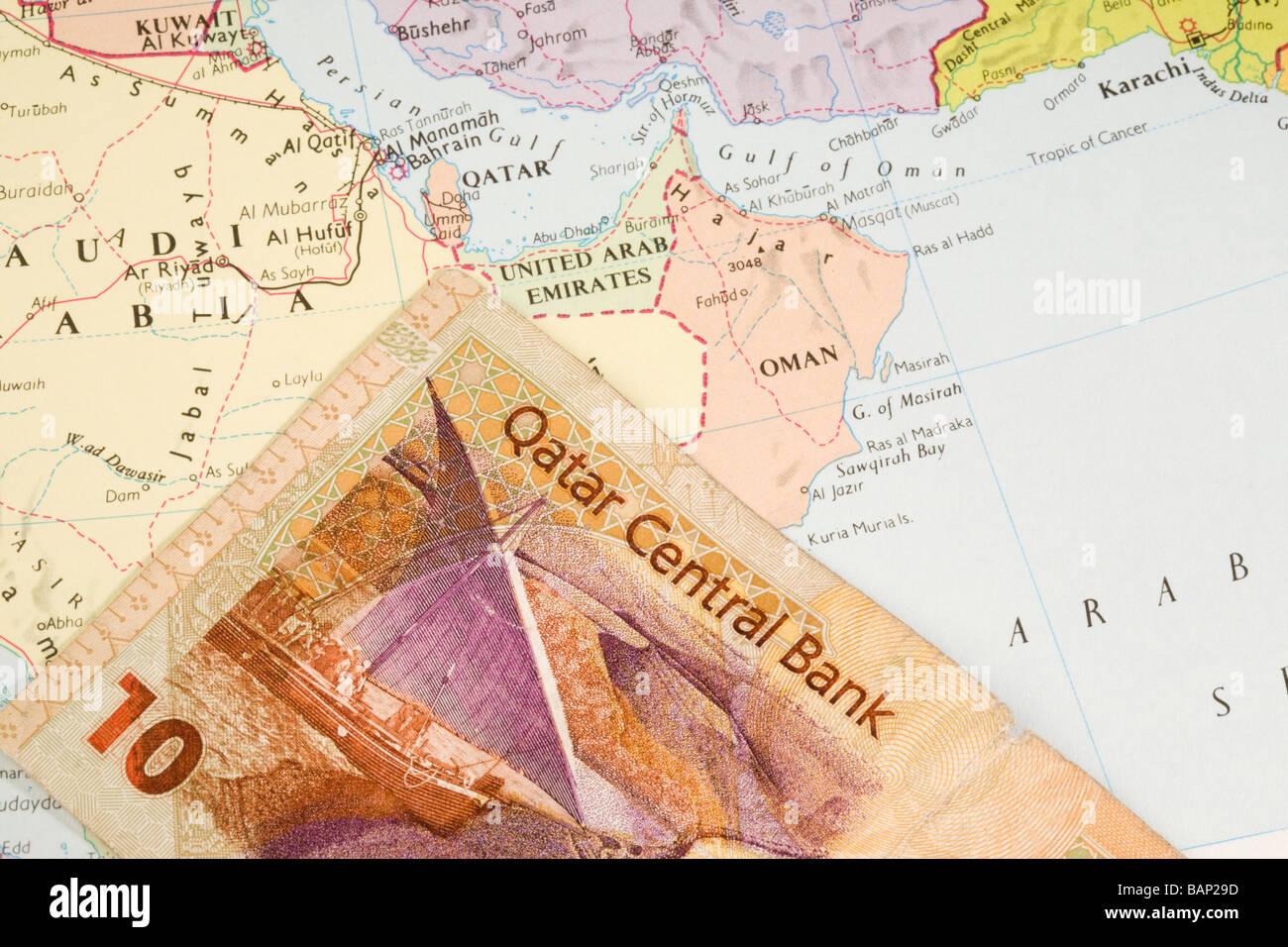 Map Of Qatar Stock Photos & Map Of Qatar Stock Images - Alamy Qatar Area Map on