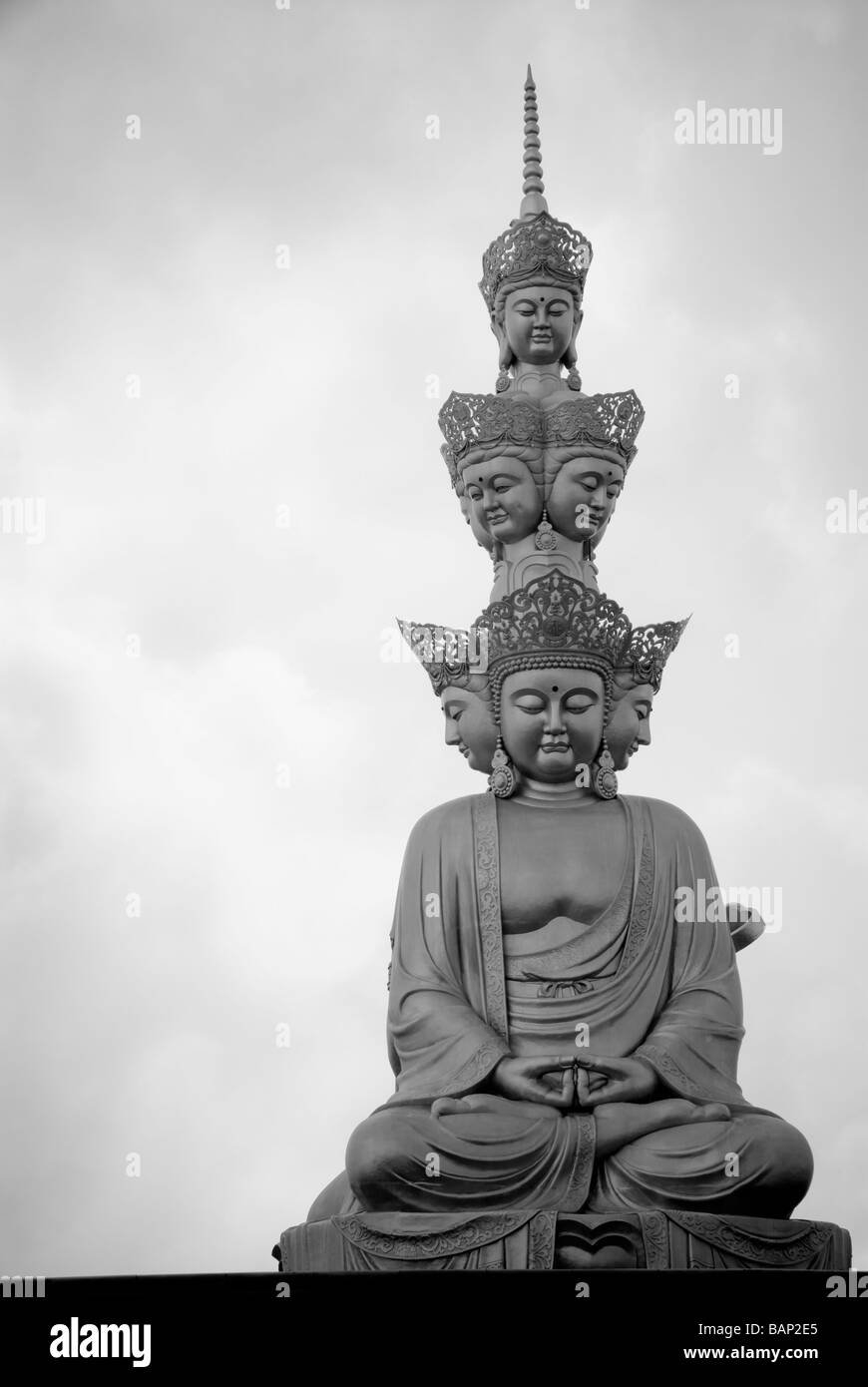 Golden Buddha at the summit of Mount Emei Shan, Sichuan, China 2008 - Stock Image