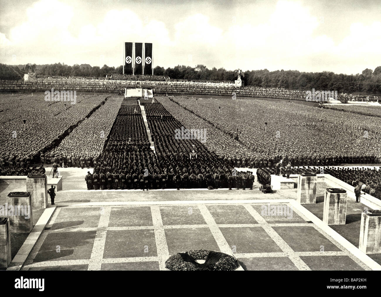 Nuremburg Rally 1936 photo of the annual gathering of the German Nazi Party for its homage to the Fuhrer - Stock Image