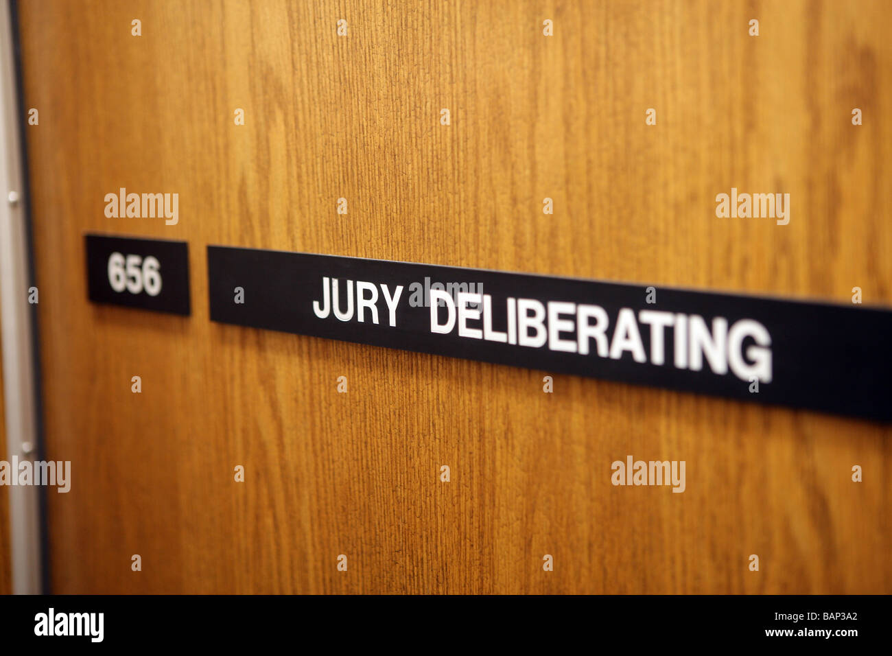 A Jury deliberation room in a USA Courthouse - Stock Image