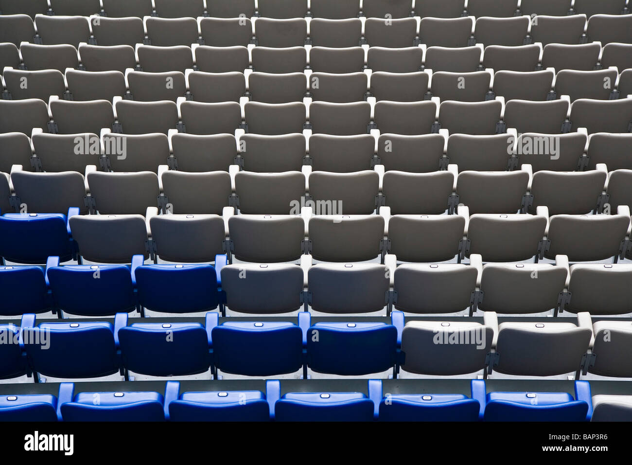 Seats The Amsterdam Arena home of Ajax FC Amsterdam The Netherlands - Stock Image