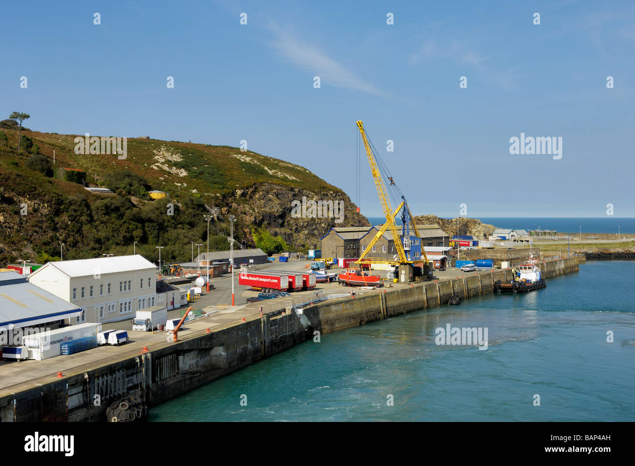 Fishguard ferry port - Stock Image