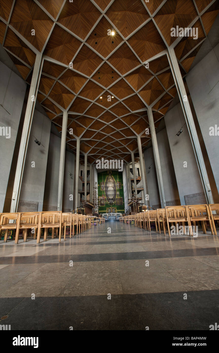 Coventry Cathedral Nave Coventry West Midlands England UK - Stock Image
