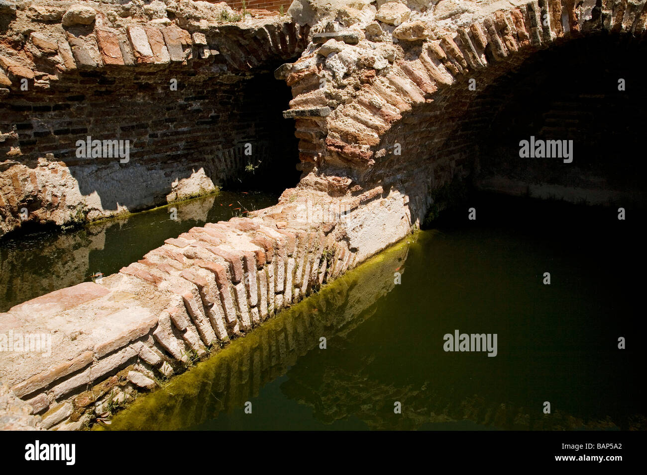 Arabic Well in the Monumental Citadel and Castle Almeria Andalusia Spain Stock Photo