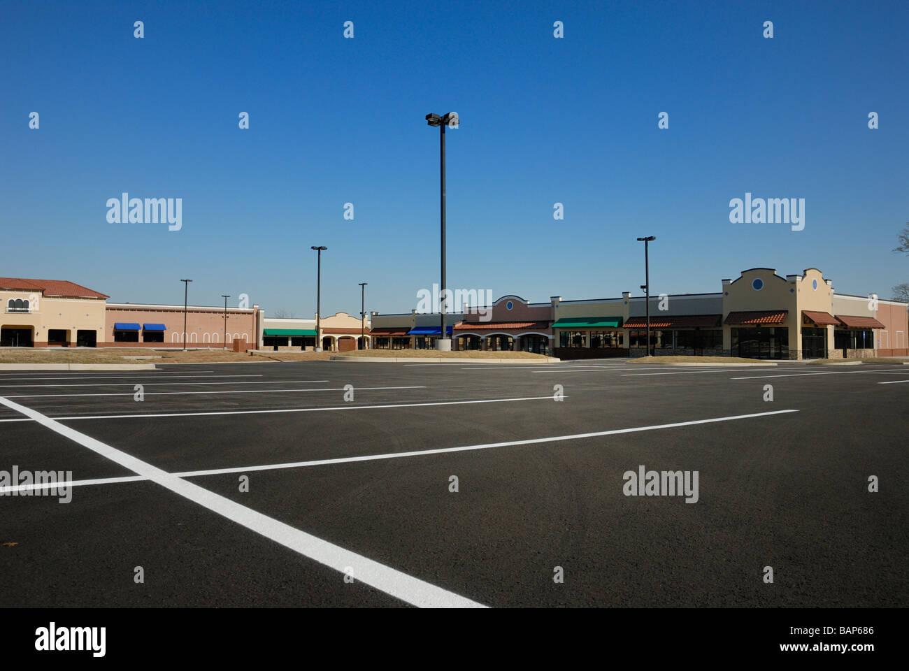new construction shopping center Dalton GA - Stock Image