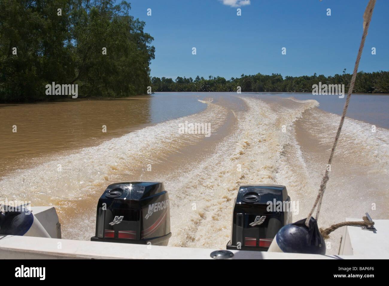The Kinabatangan River Sabah Borneo - Stock Image