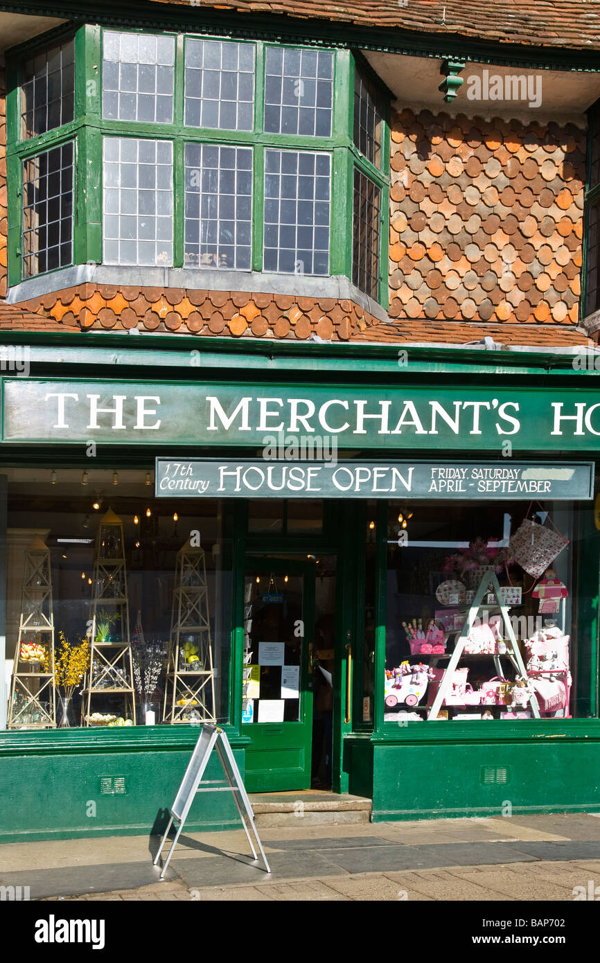 17th Century silk Merchant s House in the typical English market town of Marlborough Wiltshire England UK - Stock Image