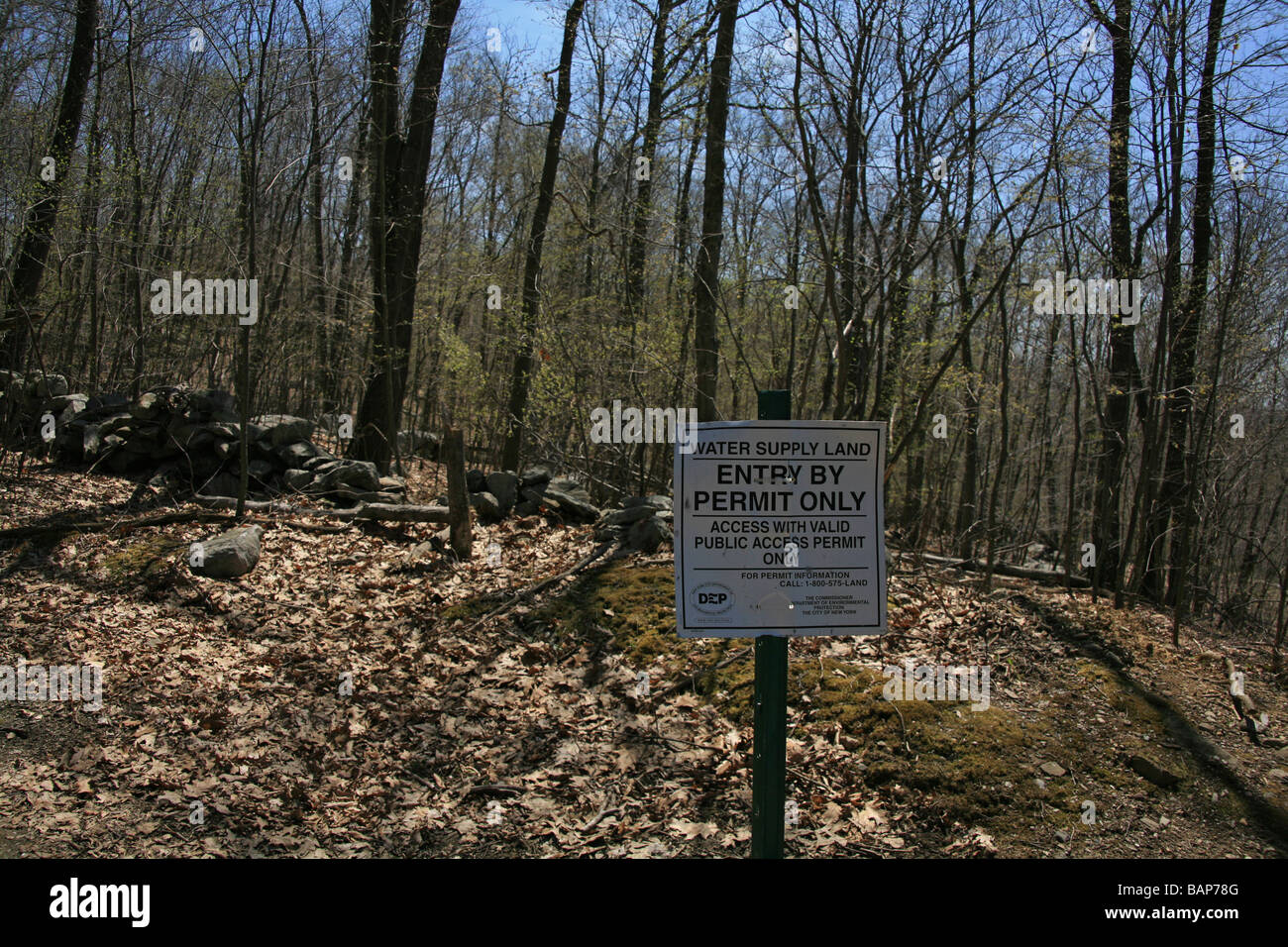 Water supply land in Kent, Putnam County, New York State, USA - Stock Image