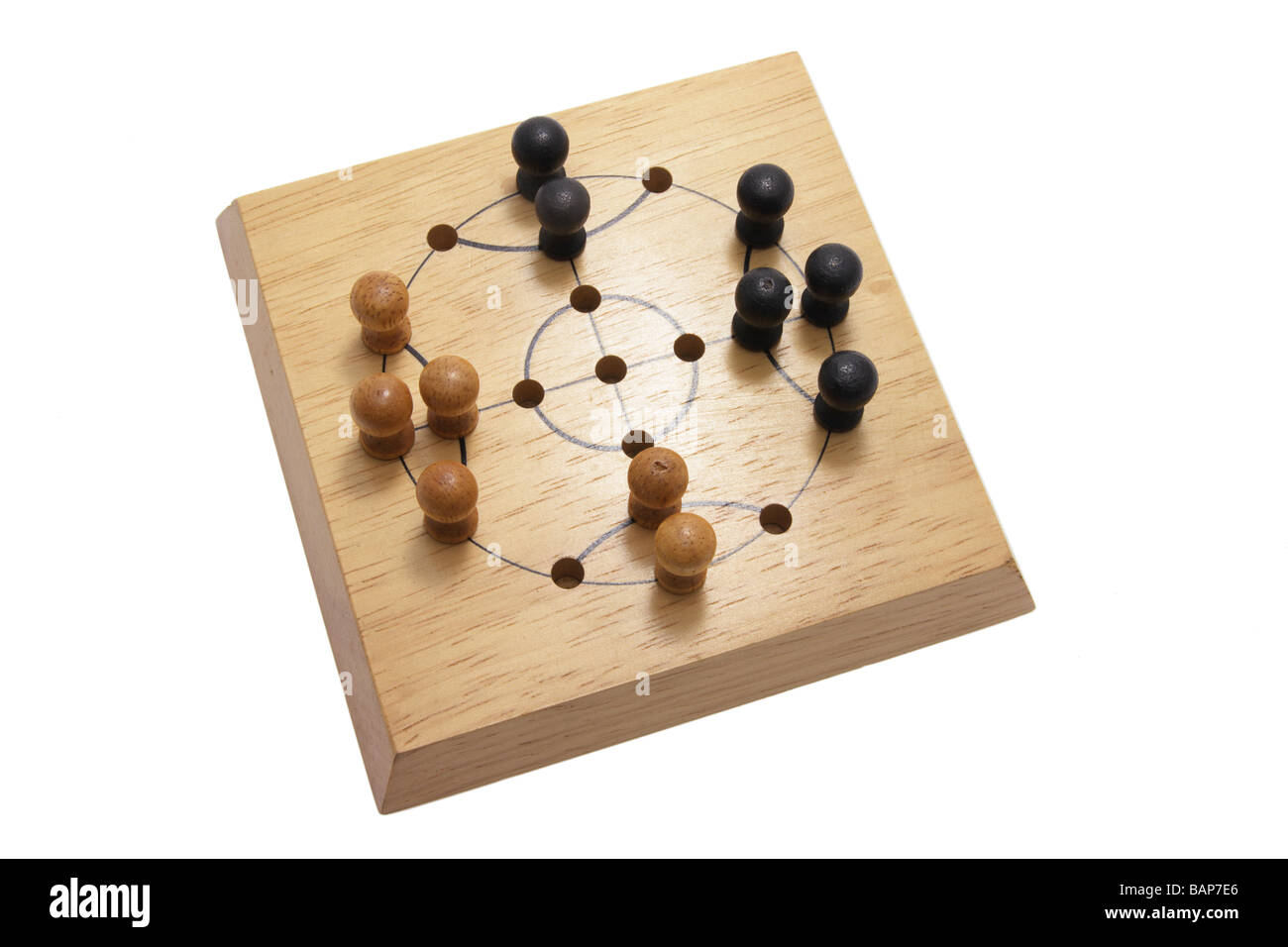 Wooden Board Game - Stock Image