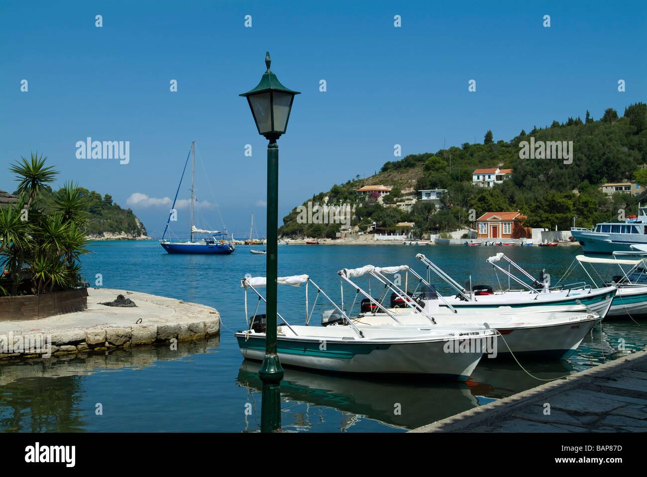 Lakka, Paxos, Ionian Islands, Greece - Stock Image