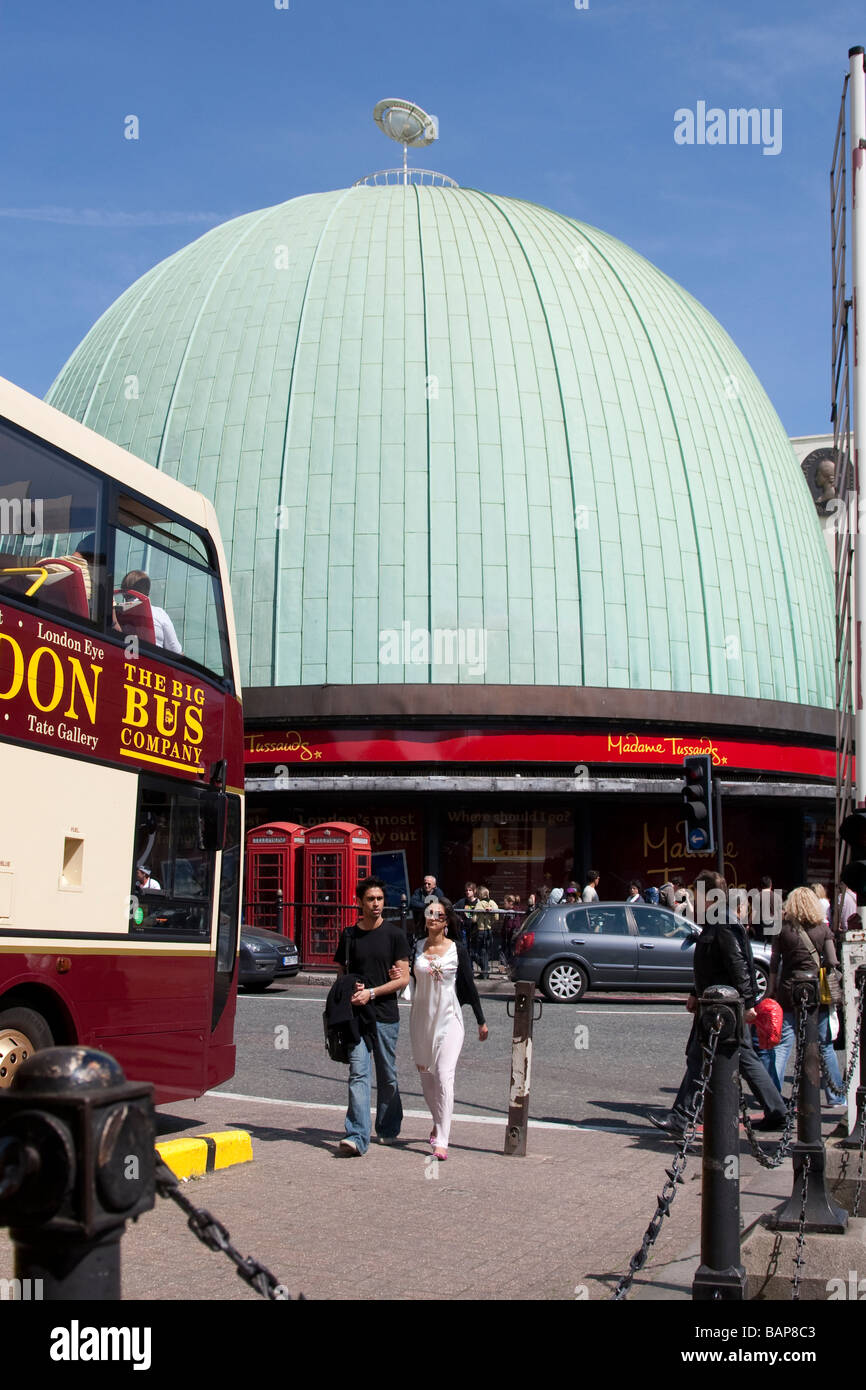 Madame Tussauds London and the dome of the old Planetarium - Stock Image