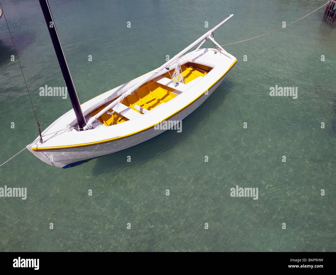 Small Local Built Sailing Boat Hope Town Abacos Bahamas